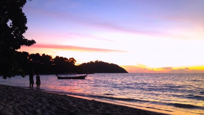 タイ秘境リペ島のサンセットビーチ