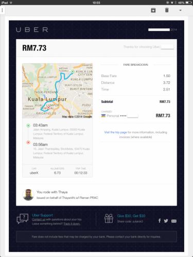 uberクアラルンプールプロモコード