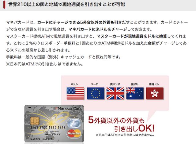 マネパカードは海外atmでも利用可能