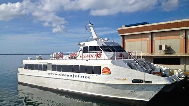 ボホール島行きのオーシャンジェットフェリー