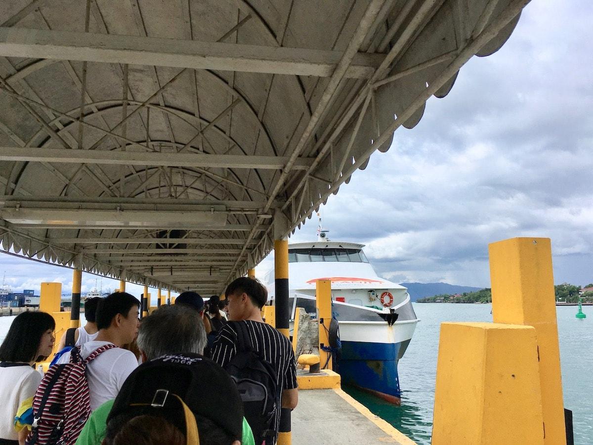 ボホール島のタグビララン港からパングラオ島のアロナビーチへ移動