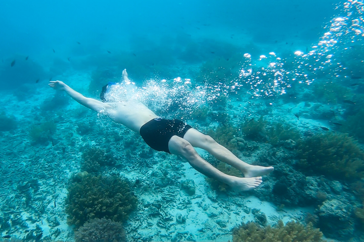 セブ島の近海でウミガメと泳ぐならバリカサグ島