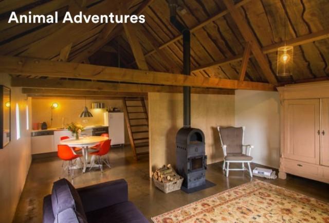 Airbnb招待割引で泊まれるコテージウッドハウス