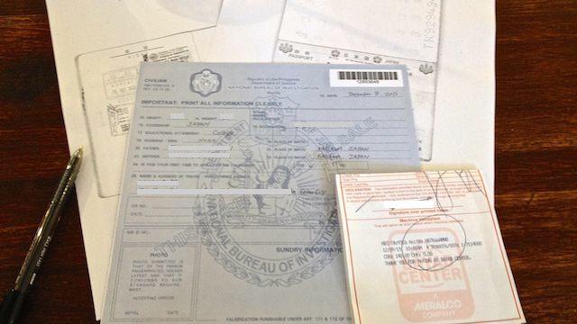 フィリピンセブ無犯罪証明書