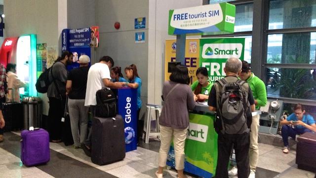 マニラ 空港 SIMカカード
