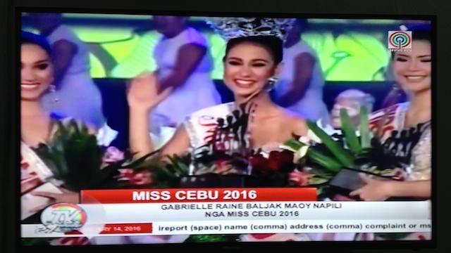 ミスセブ2016フィリピン美人コンテスト