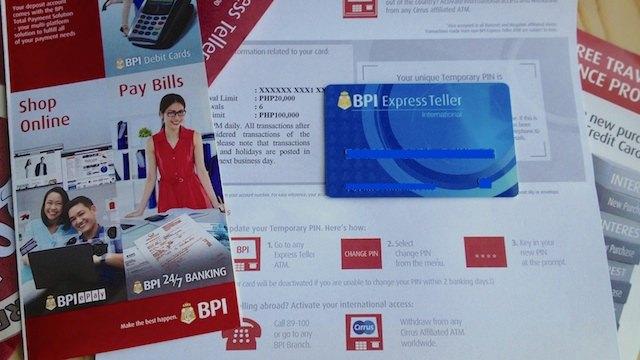 フィリピンのbpi銀行口座開設