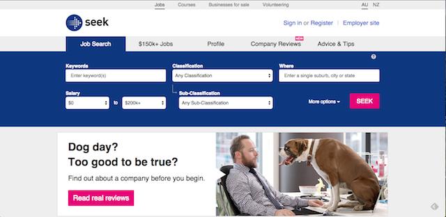 求人サイトシークでオーストラリアワーホリ仕事を探す