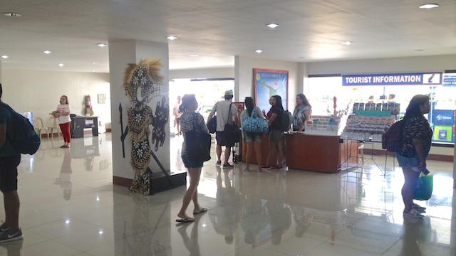 フィリピンカリボ空港の観光案内所