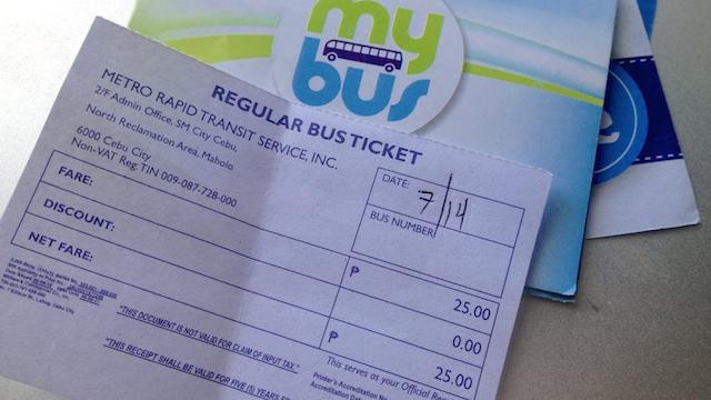 マイバス チケット セブ