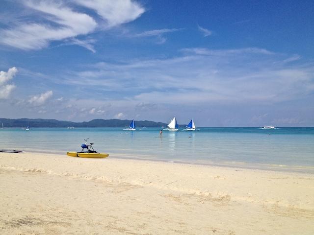 フィリピンボラカイ旅行のビーチ写真