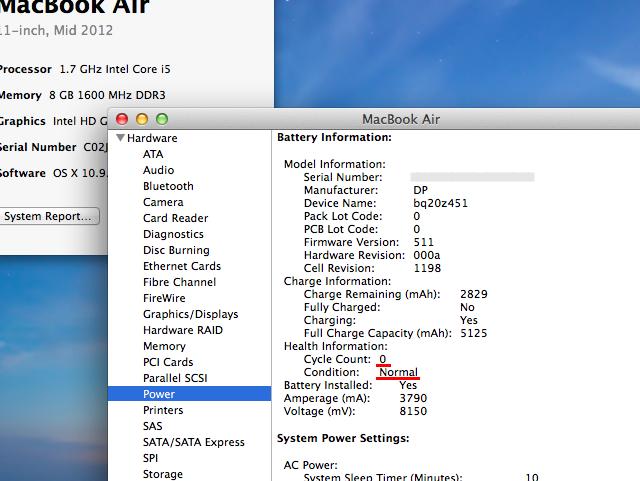 macbookair バッテリー 交換 容量