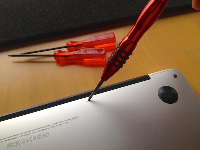 macbookair バッテリー 交換 ドライバー