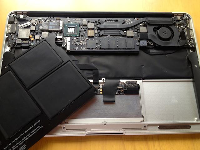 macbookair バッテリー 交換 費用