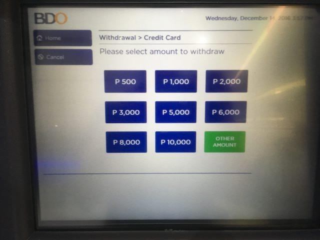 フィリピン atm 限度額