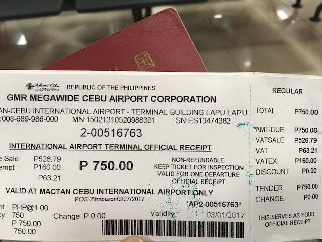 セブ 空港 税金