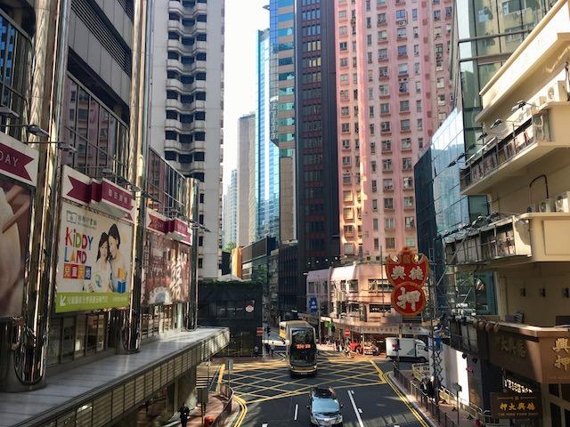 香港旅行の香港市内の様子