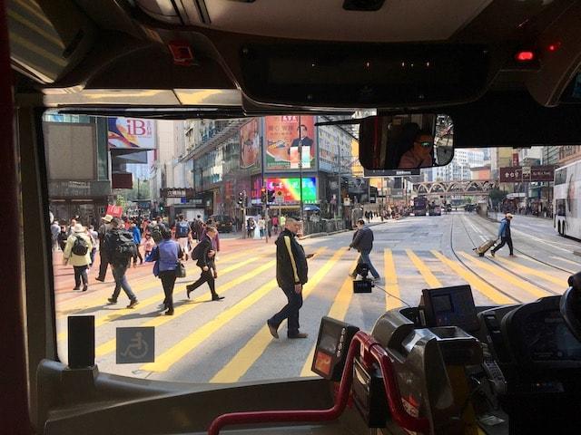 空港から香港市内はバス移動が安い