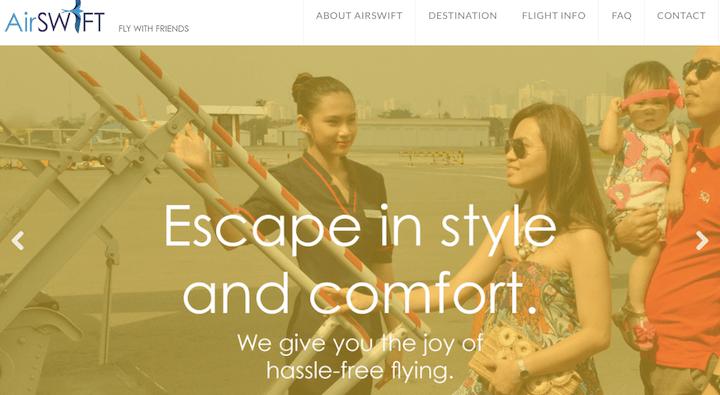 フィリピン国内線「エルニドとボラカイ間」を運行するエアスイフト航空