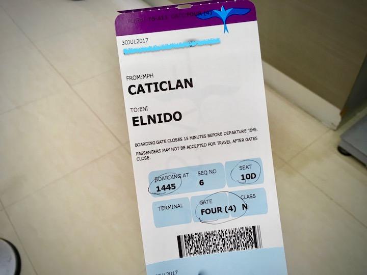 エアスイフト航空のチケット(ボラカイーエルニド)