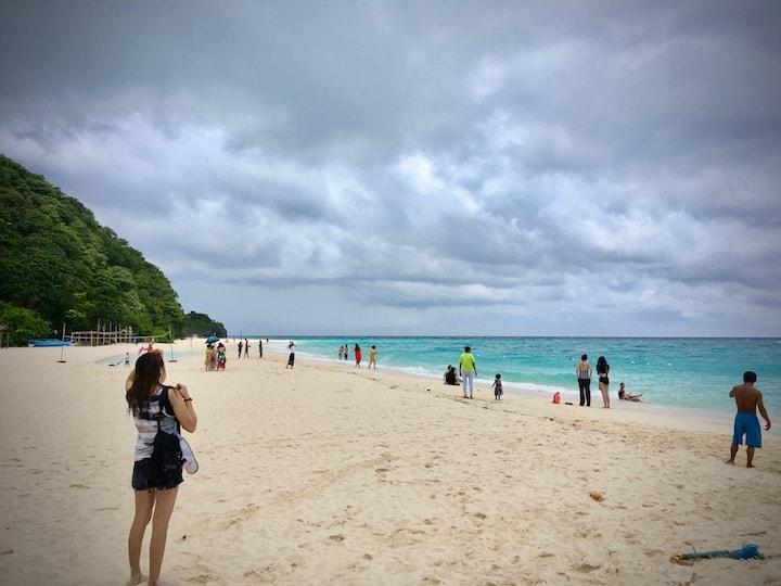 フィリピンのボラカイ島にあるプカシェルビーチ