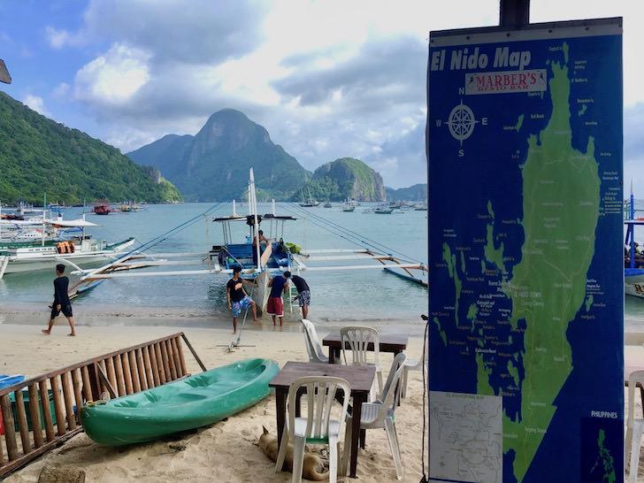 フィリピンエルニドのビーチ