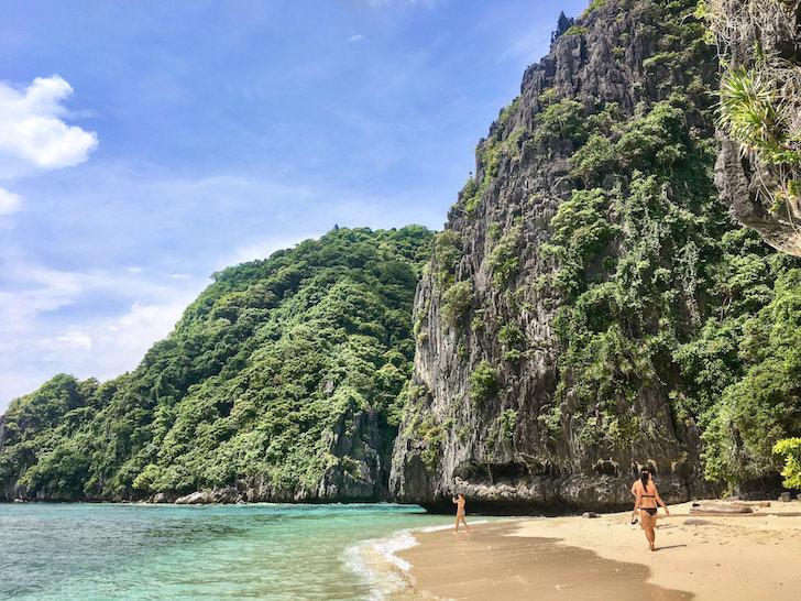 フィリピンエルニドのシミズビーチ