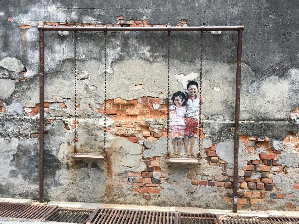 マレーシア・ペナン島にある世界遺産ジョージタウンのストリートアート