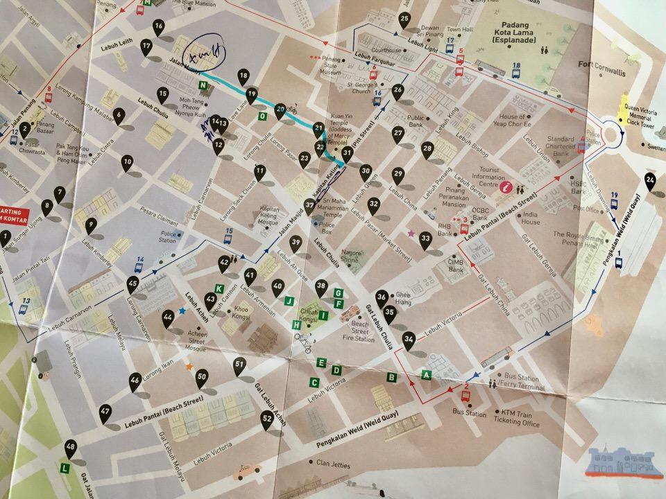 マレーシア・ジョージタウンのアートマップ