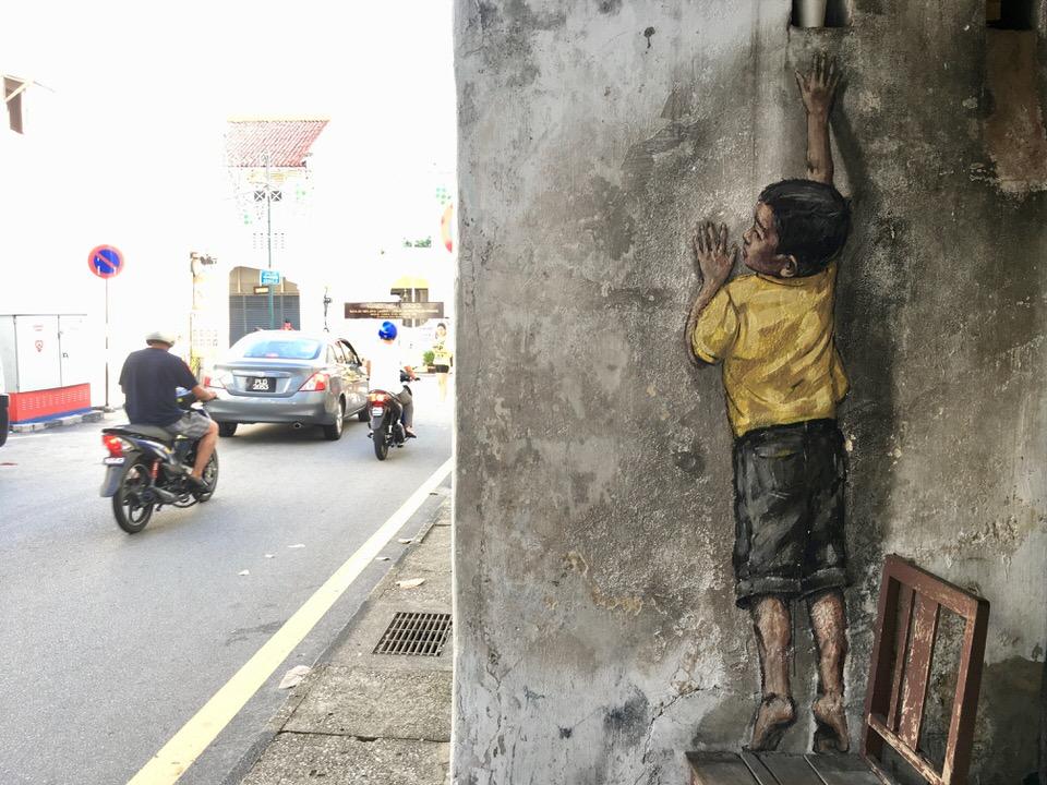 マレーシア・ジョージタウンの壁画アート
