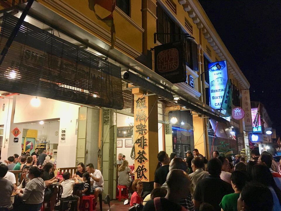 マレーシアジョージタウンのストリートフード
