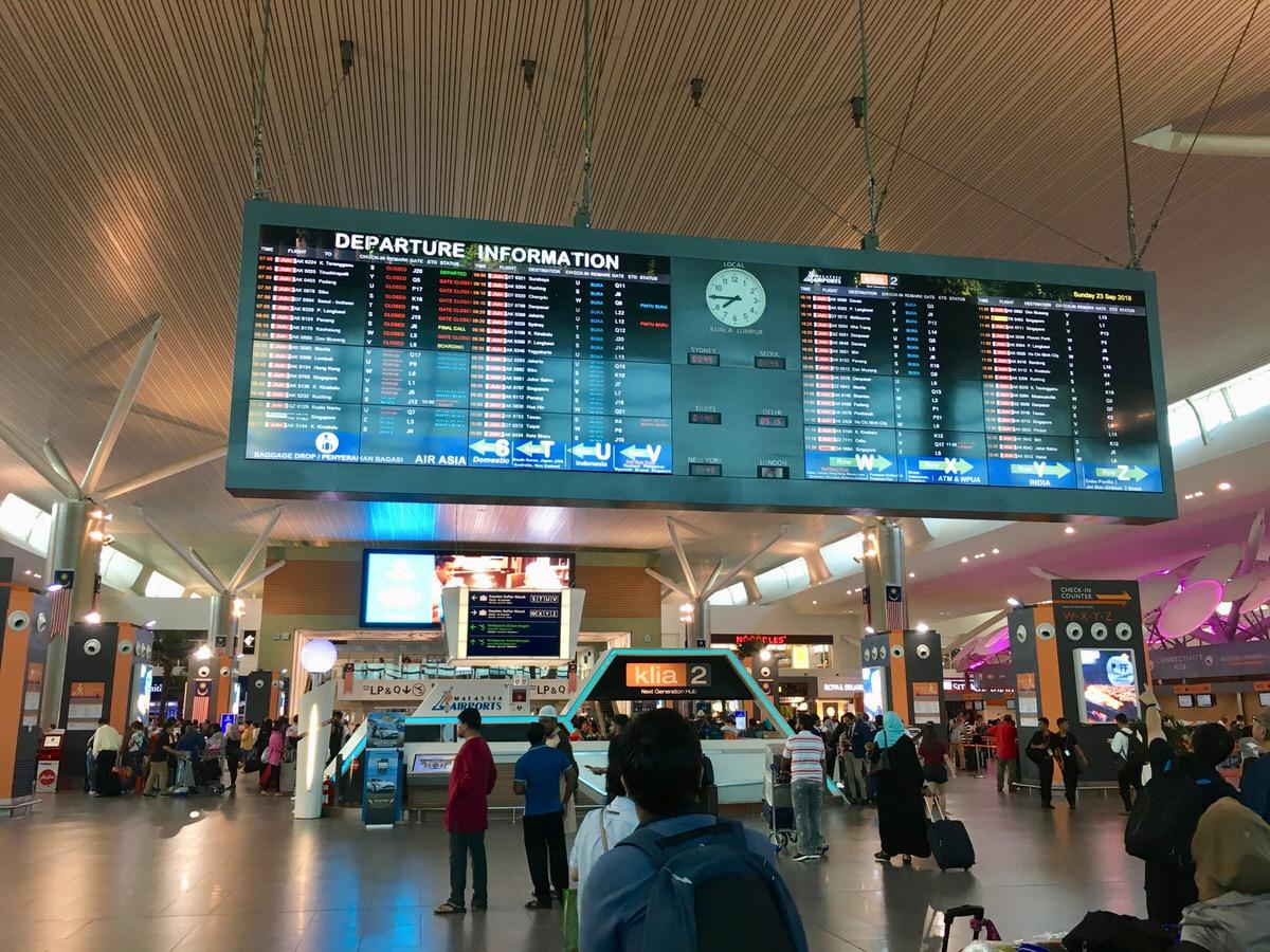 クアラルンプール空港内のホテルカプセル・トランジット