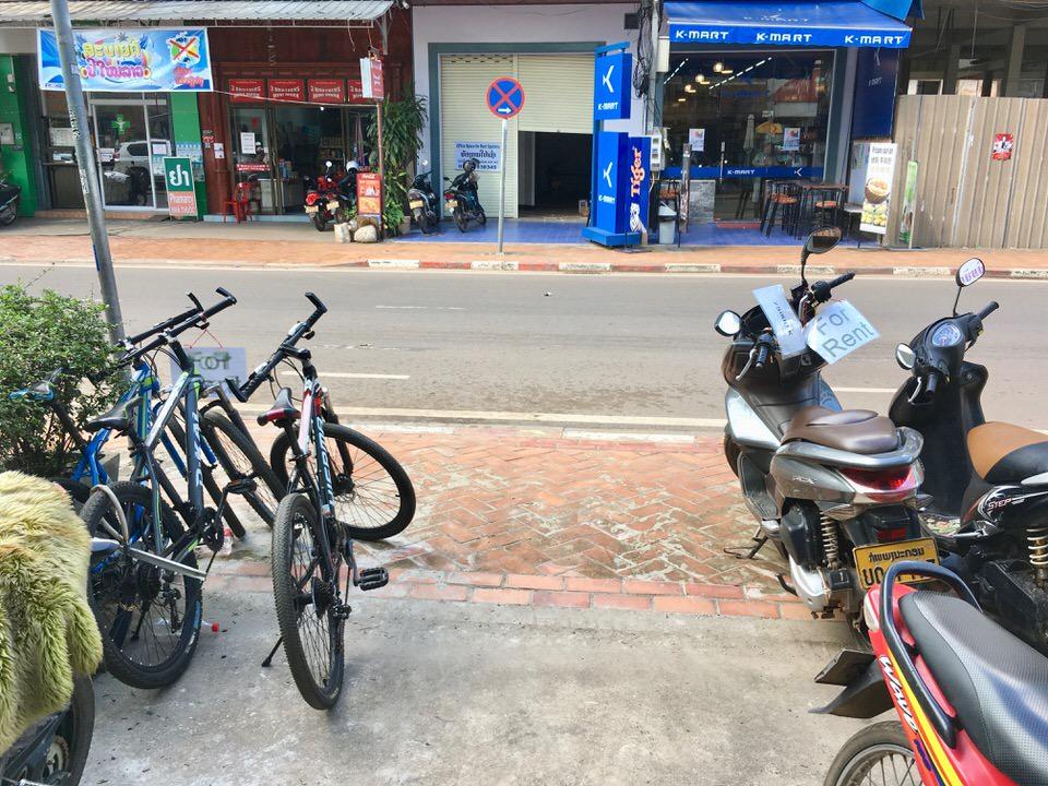 ビエンチャンのレンタル自転車の料金