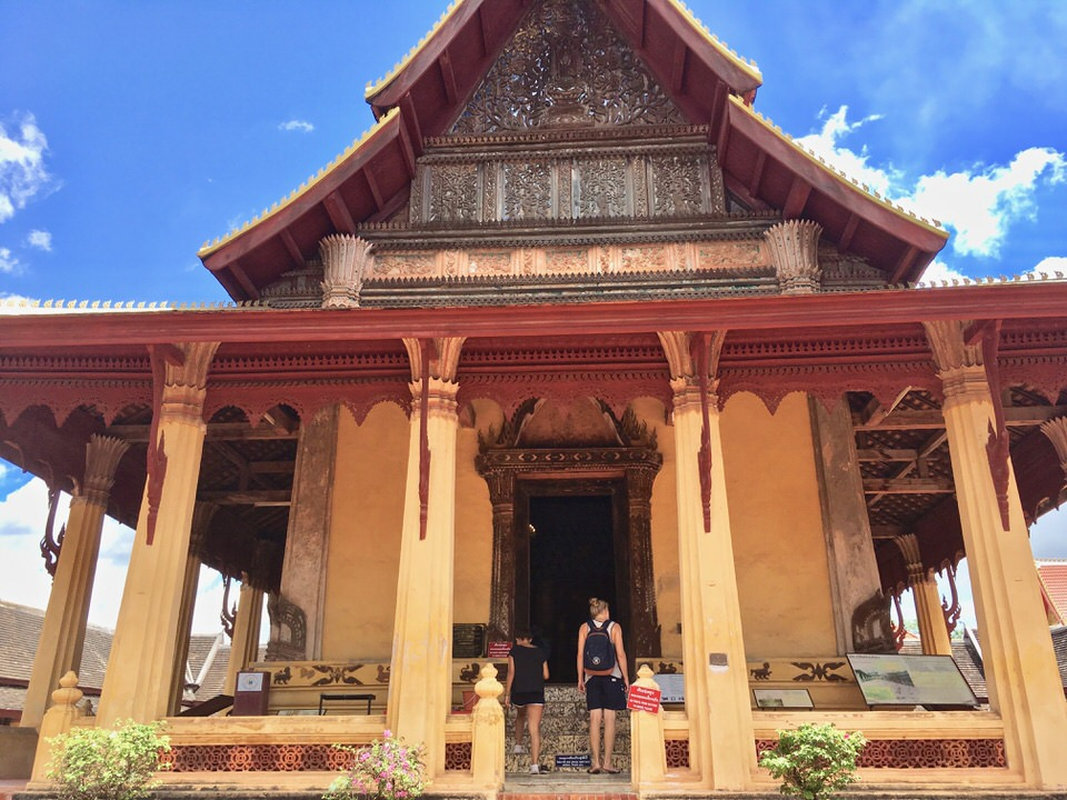 ビエンチャン最古の仏教寺院ワット・シーサケット