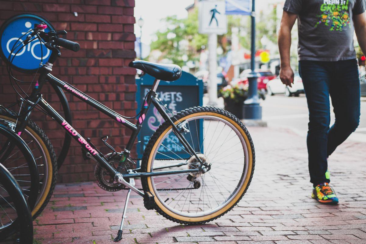 自転車でウーバーイーツ配達
