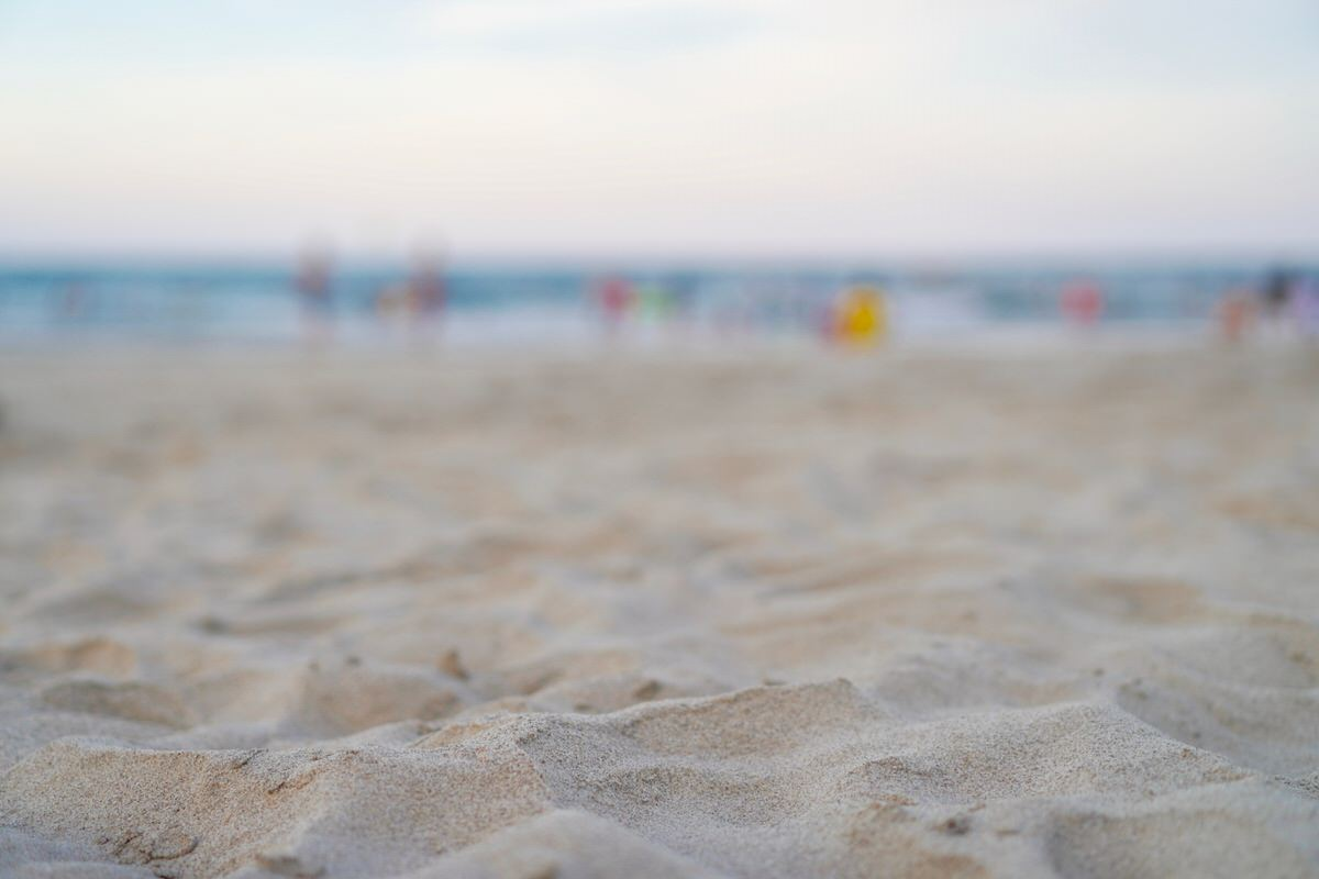 ダナンのビーチでサンセットタイム