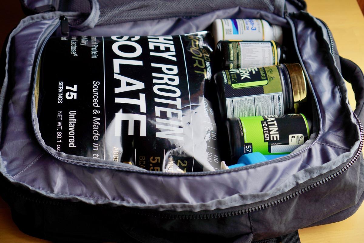 海外旅行でのプロテインやサプリの持ち運び方